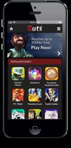 GUTS casino på mobiltelefonen